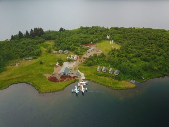 Aerial view of Kodiak Brown Bear Center & Lodge